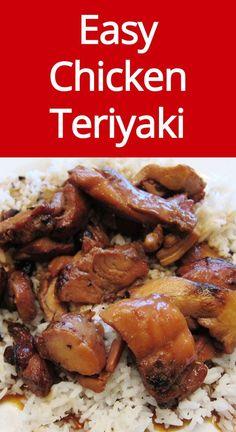 Easy Chicken Teriyaki Recipe Recipes Easy Homemade Chicken Teriyaki Recipe - tastes exactly like the Chicken Teryaki Recipe, Chicken Teriyaki Rezept, Chicken Wok Recipes, Panda Express Teriyaki Chicken, Pollo Teriyaki, Best Teriyaki Chicken Recipe, Chicken Thigh Teriyaki, Terriaki Chicken, Simple Chicken Recipes