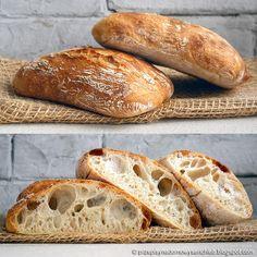 Ciabatta na zaczynie biga Ciabatta, Daily Bread, Bon Appetit, Bigbang, Nom Nom, Meals, Baking, Christmas Cakes, Breads