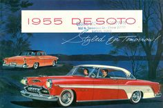 1955 De Soto Fireflite Sportsman 2 Door Hardtop and Firedome 4 Door Sedan