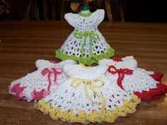 crocheted bottle aprons for dish detergent | Cindy's Creations