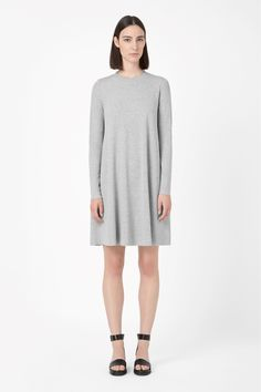 COS | Dress with ribbed neckline