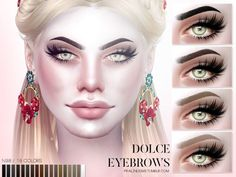 Sims 4 CC's - The Best: Dolce Eyebrows by Pralinesims