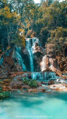 Visit Kuang Si Falls, Luang Prabang Visit Kuang Si Falls in Luang Prabang, Laos Luang Prabang, Laos Travel, Asia Travel, Wanderlust Travel, Landscape Photography, Travel Photography, Nature Photography, Photography Tips, Amazing Photography