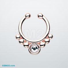 Rose Gold Gem Grandiose Fake Septum Ring