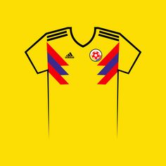 Vote for your favourite World Cup shirt! Columbia World Cup Shirt Vector World Cup Shirts, World Cup Teams, Team Shirts, Your Favorite, Columbia, Russia, Eye, Football Jerseys, Colombia
