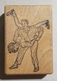 Swing Dancers Rubber Stamp Saddle Shoes Retro 50's era Gray Wolf Graphics #GrayWolfGraphics #Background