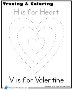 valentine heart tracing and coloring Coloring Page Valentine Crafts For Kids, Valentines Day Activities, Valentine Theme, Valentine Heart, Toddler Crafts, Preschool Crafts, Preschool Ideas, Shape Worksheets For Preschool, Friendship