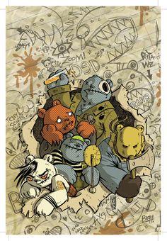 Teddy Scares Graphic Novel - artist Christine Larsen