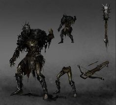 Demon #ConceptArt from #DarkSoulsII