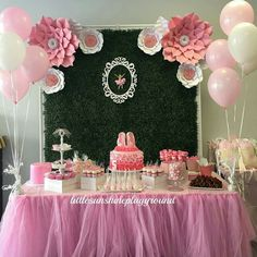 Ballerina Birthday, Birthday Diy, Princess Birthday, Girl Birthday, Birthday Parties, Birthday Ideas, Shower Party, Baby Shower, Dessert Table Backdrop