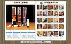 Touch Up Solutions - Wood Touch Up Kits display different configurations. To the right you can also find 25 examples of what type of liners you can use inside your tube. You can provide your own graphics that we print off. Furniture Markers, Furniture Repair, South Burlington, Wood Repair, North Las Vegas, Fort Smith, Rapid City, Cedar Rapids, Overland Park