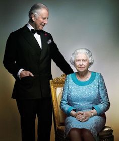 Touching new Royal portrait captures a tender mother-son moment as the Queen struggles to