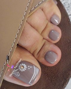 Pedicure Designs, Manicure E Pedicure, Toe Nail Designs, Pink Pedicure, Toe Nail Color, Toe Nail Art, Nail Colors, Pretty Toe Nails, Cute Toe Nails
