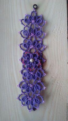 Купить Браслет кружевной - комбинированный, свадебные украшения, Браслет ручной работы, фриволите, анкарс, кружево