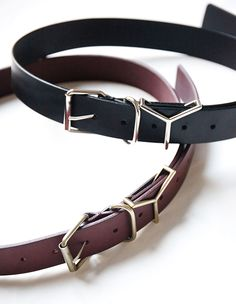 Y/Project Leather Y Belt on aere-store.com