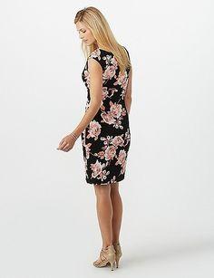 f56c256c32f Petite Ruched Side Floral Dress