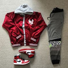 Shoes Women Your size Nike Off-White Air Jordan 1 Red / OW online - for women sites Jordans Outfit For Men, Dope Outfits For Guys, Swag Outfits Men, Stylish Mens Outfits, Tomboy Outfits, Hype Clothing, Mens Clothing Styles, Streetwear Mode, Streetwear Fashion