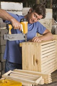 Slatted wooden crates can be assembled and stacked for a thrifty custom bookshelf.