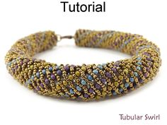 Beading Pattern Tutorial for Russian Spiral Stitch Seed Bead Tubular Bracelet Jewelry Making PDF Download by Simple Bead Patterns | Simple Bead Patterns