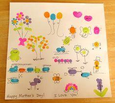 fingerprint - art: flowers, frog, balloons, and more