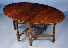 Antique English Oak Gate Leg Dining Table