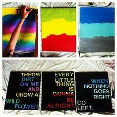diy stickers craft, paint sticks, color, black canvas, canvas quotes, quote boards, sticker letter, paint a canvas, quote art