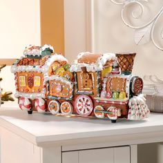 fiber optic christmas decorations | ... Fiber Optic Gingerbread Train Decoration New Holiday Christmas | eBay