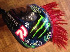 Monster helmet Hjc rpha graffiti