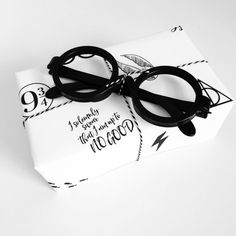2 sheets of Harry Potter Wrapping Paper by LoveAndLion on Etsy