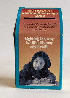 Trocaire box 1993 Might Have, 40 Years, Literacy, Campaign, Boxes, Bring It On, Life, Crates, Box