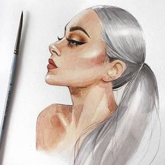 38 Awesome woman who draws art! How To Women drawing. New pictures part 18 - 38 Awesome woman who draws art! How To Women drawing. New pictures part 18 - Space Drawings, Pencil Art Drawings, Art Drawings Sketches, Easy Drawings, Awesome Drawings, Drawings For Girls, Drawing Girls, Beautiful Drawings, Watercolor Projects