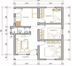 Só Projetos Grátis: Projeto de uma casa com 40 metros quadrados