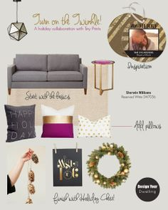 Design Your Dwelling: Turn on the Twinkle - A Holiday Design Board