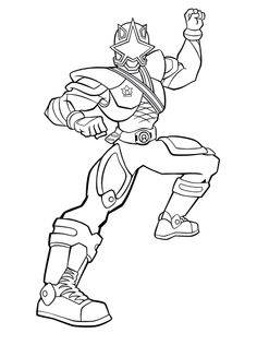 Power Rangers Red Turbo Coloring Book Kids Coloring