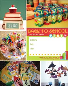 just some ideas, i'm thinking about letting Kailey have a party to go back to school!!