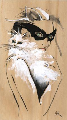 Cat Lady fashion illustration