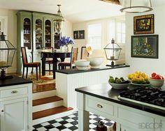 A chic country kitchen brings in casual luxury