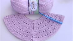 Crochet Edging Patterns, Baby Knitting Patterns, Hand Knitting, Knitted Baby Clothes, Crochet Clothes, Crochet Crafts, Knit Crochet, Baby Barn, Crochet Videos