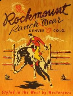 """Rockmount's ranch wear will be featured in """"Cowboys and Rock Stars"""" at the…"""