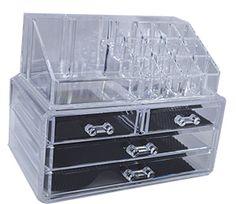 Organizador de cosmeticos de acrilico transparente  24x15x18.6cm