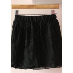 $8.93 Sweet Embroidered Elastic Waist Chiffon Skirt For Women