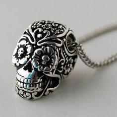 Day Of The Dead Sugar Skull Necklace