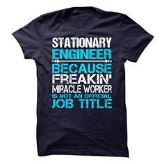 Stationary Engineer T-Shirts, Hoodies. GET IT ==► https://www.sunfrog.com/No-Category/Stationary-Engineer-67891418-Guys.html?41382