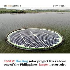200kW floating solar project lives above one of the Philippines' largest reservoirs. Norwegian floating solar technology provider Ocean Sun partnered with Chinese solar manufacturer GCL-SI in June to build the floating solar system in the 1170-hectare Magat reservoir found 220 miles north of capital Manila on the island of Luzon. It is the Philippines-based renewable energy group SN Aboitiz Power-Magats (SNAP) first non-hydro project. According to PV-Tech Philippines Energy Secretary Alfonso… Solar Projects, Renewable Energy, Manila, Solar System, Secretary, Project Life, Philippines, June, Chinese