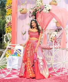 Indian Bridal Lehenga, Indian Bridal Outfits, Indian Bridal Fashion, Indian Fashion Dresses, Dress Indian Style, Bridal Dresses, Ceremony Dresses, Indian Gowns, Indian Attire