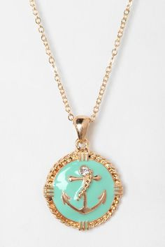 Newport Nautical Charm Necklace - I'm on a boat. #urbanoutfitters