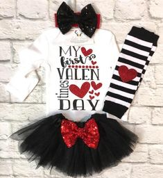 A personal favorite from my Etsy shop https://www.etsy.com/listing/574015192/baby-girl-clothes-valentines-bodysuit-my