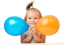 Gymles met ballonnen