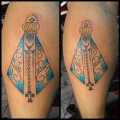 Tattooo de hoje Nossa Senhora de Aparecida #nossasenhoraaparecida #tattoos #tintaseverlast ...