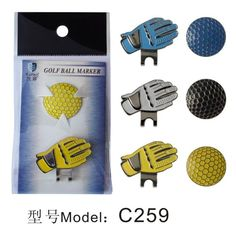 Golf Ball Shape Golf Ball Marker & Hat ClipHot Sale Golf Promotional Gilf Wholesale
